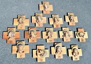 + 14 Stations Of The Cross + Wood Carved From Italy 9 1/2+ Chalice Co Cu533