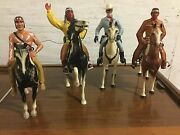 Vintage Marked Hartland-the Lone Ranger - Tonto 1950and039s And 2 More