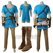 The Legend Of Zelda Breath Of The Wild Link Costume Halloween Costume All Size