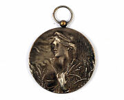 Silvered Bronze Medal Ardenais Traditional Horse 1947 Machines By J.fisch