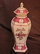 Chinese Export Famille Rose Hand Painted Frence Samson Vase With Lid