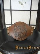Medieval Larp Viking Celtic Bird Of Liberty Stamps Leather Cuff Bracer