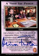 Babylon 5 Ccg Mira Furlan Psi Corps A Time For Peace Autographed