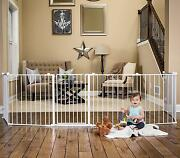 Super Wide Gate Play Yard White Regalo 192 Inch Baby Kids Metal Home Large New