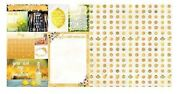 May Calendar Girl 12x12 Scrapbook Paper 5pc Double Sided - By Bo Bunny