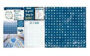 January Calendar Girl 12x12 Scrapbook Paper 5pc Double Sided - By Bo Bunny