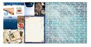 July Calendar Girl 12x12 Scrapbook Paper 5pc Double Sided - By Bo Bunny