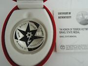 Israel 2004 In Honor Of Terror Victims State Medal 37mm 26g Silver