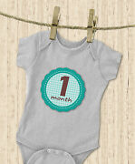 2 X And039muchmoreand039 Monthly Baby Stickers Boy Milestones Shower Photo Prop Adorable