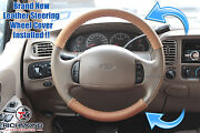 2003-2007 Ford F250 F350 King Ranch -leather Steering Wheel Cover 2-piece Wrap