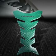 3d Pro Fuel/gas Tank Pad Protector Decal/bike Grip Sticker Gloss Perforate Green