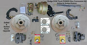 1961-1971 Dodge D100 Front Power Disc Brake Kit - 11.75 Drilled And Slotted