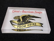 Rare Vintage H J Heinz 57 Great American Soup Advertising Paperweight 1970's