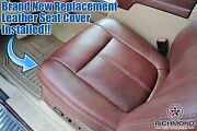 2012 Ford F250 F350 King Ranch-driver Side Bottom Replacement Leather Seat Cover