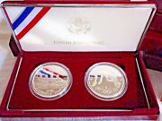 Nib Us Olympic Coins Centennial Games Track Rowing Silver 2 Coin Proof Set 1996
