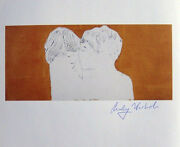 Andy Warhol Male Child And Female Child Heads 1982 Hand Signed Print
