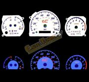 White Indiglo El Gauges Kit Glow Blue Reverse For 05-09 Scion Tc 2.4l At Only
