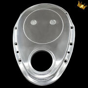 Small Block Chevy Polished Aluminum Timing Chain Cover For Sbc 283 327 350 400