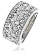Diamond Half Eternity Wedding Ring 1.00ct Brilliant Cut F Vs In 18ct White Gold