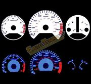 White Indiglo El Gauges Kit Glow Blue Reverse For 98-02 Accord 2.3 4-cyl At Only