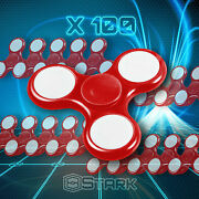 Red Led Hand Spinner Tri Fidget Focus Desk Toy Edc Adhd Autism Kids Adult X100