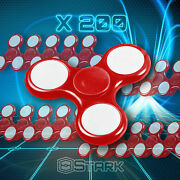Red Led Hand Spinner Tri Fidget Focus Desk Toy Edc Adhd Autism Kids Adult X200