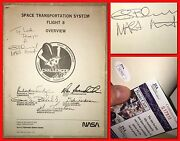 Nasa Space Flight 8 Overview Sts-8 Challenger Guion Bluford Autographed Booklet