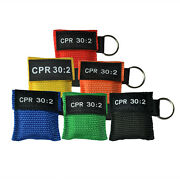 500pcs 6 Colors Cpr Mask Aed First Aid One-way Valve Keychain Pouch Cpr 302