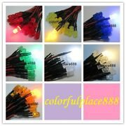 5mm 9v 12v Diffused Pre-wired Red Yellow Blue Green Warm White Orange Led 20cm