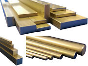 Brass Square Flat Bar Round Rod 50mm To 600mm Long Cz121 Stock Metal