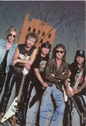 The Scorpions / German Band / Autographs / Signed Postcard Photo