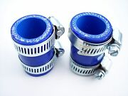 Yamaha Banshee Exhaust Clamps Blue Fits 1987-2006 Factory Dg Fmf Toomey Pc