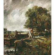 A Barge Passing A Lock On The Stour - J Constable Medici Print