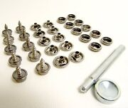 Boat Canvas Snaps, 3/8 Screw Studs And Setting Tool Kit - All Stainless Steel