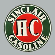 Sinclair Gasoline High Quality Square Metal Magnet 4 X 4 Inches 9427