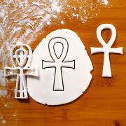 Egyptian Ankh Cookie Cutter | Egypt Artifact Hieroglyph Ancient Pharaoh Biscuit