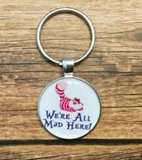 Key Chain Cheshire Cat Weand039re All Mad Here Mad Hatter Teeth