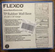 Flexco 4x1/8 X50' Thermoplastic Rubber Wall Base Black New In Box Dry Back