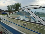 Aquatron 200 Bow Rider Boat Starboard Side Windshield This Single Piece Only