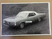 1967 Pontiac Gto Convertible Top Up 12 X 18 Black And White Picture