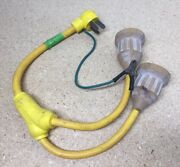 125/250v Hubbell Marine Shore Power Y Cord Adapter - 30a X 2 - 30a Female