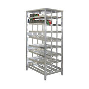 New Age 97294 First In First Out Stationary Can Rack W/ 156 10 Can Capacity
