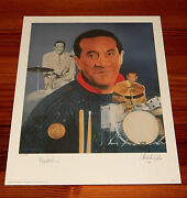 Max Roach 16 X 20 Lithograph By Christopher Paluso - Signed And Numbered