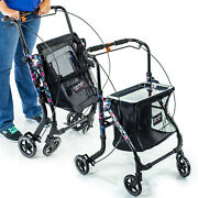 Shop N Go Folding Adjustable Height Walker Pet Rollator With Bag And Tray 805