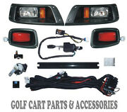 Ezgo Txt Golf Cart Led Headlight And Tail Light Kit Deluxe Street Package 1996-13