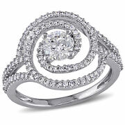 Amour 1 Ct Tw Diamond Swirl Engagement Ring In 10k White Gold