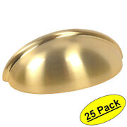 25 Pack Cosmas Cabinet Hardware Brushed Brass Bin Cup Handle Pulls 783bb