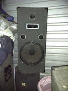 4 Pc Home Stereo Speaker System/ 15 Inch Woofers Mid And Horn In Each