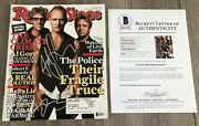 The Police Band Signed Autograph Rolling Stone Magazine Sting +2 Beckett Bas Coa