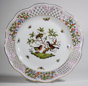 Large Herend Rothschild Pierced Serving Plate
